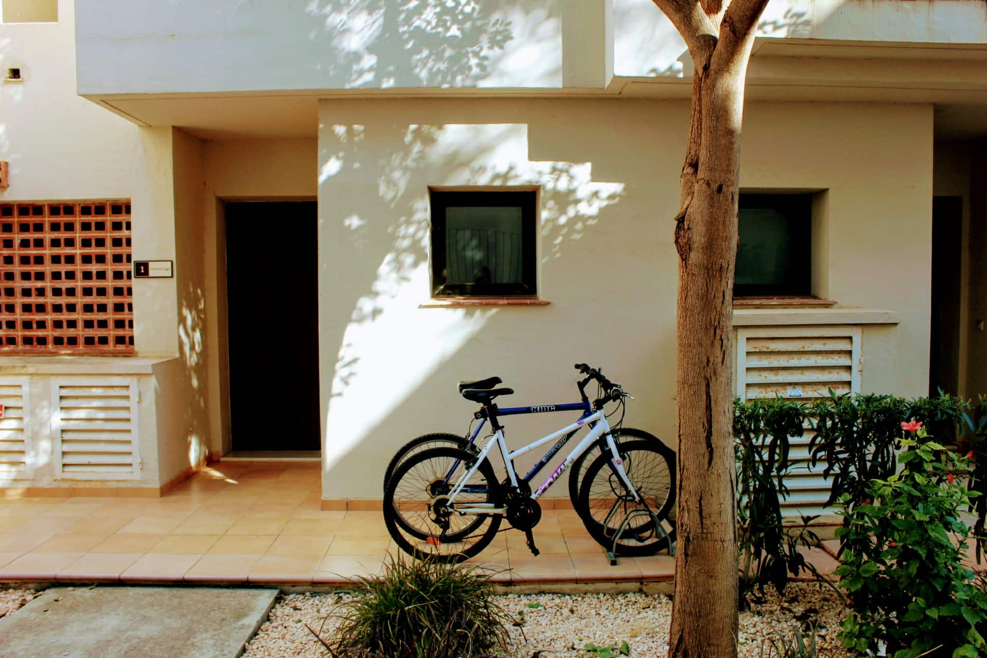Complimentary bikes.
